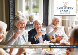 Earlsferry House Care Home Web Brochure